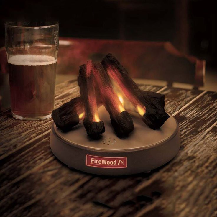 This little virtual fireplace realistically recreates the crackle and pop of burning firewood and embers right on your desktop or table.