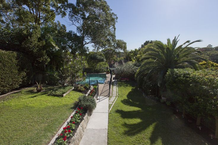 North facing private gardens with pool & spa at 46 Batemans Road #Gladesville #privategardens #pool