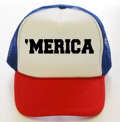 Amazon.com  TeeShirtPalace  Merica United States of America Trucker Hat Red  White Blue  Clothing  c750a4827dc