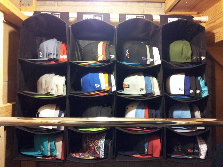15 best images about cap storage on pinterest steven s shelves and storage ideas - Creative hat storage ideas ...