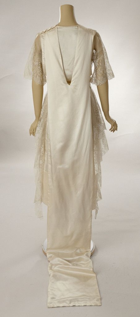 1921 Wedding Dress, back view Woodland Farms Vintage