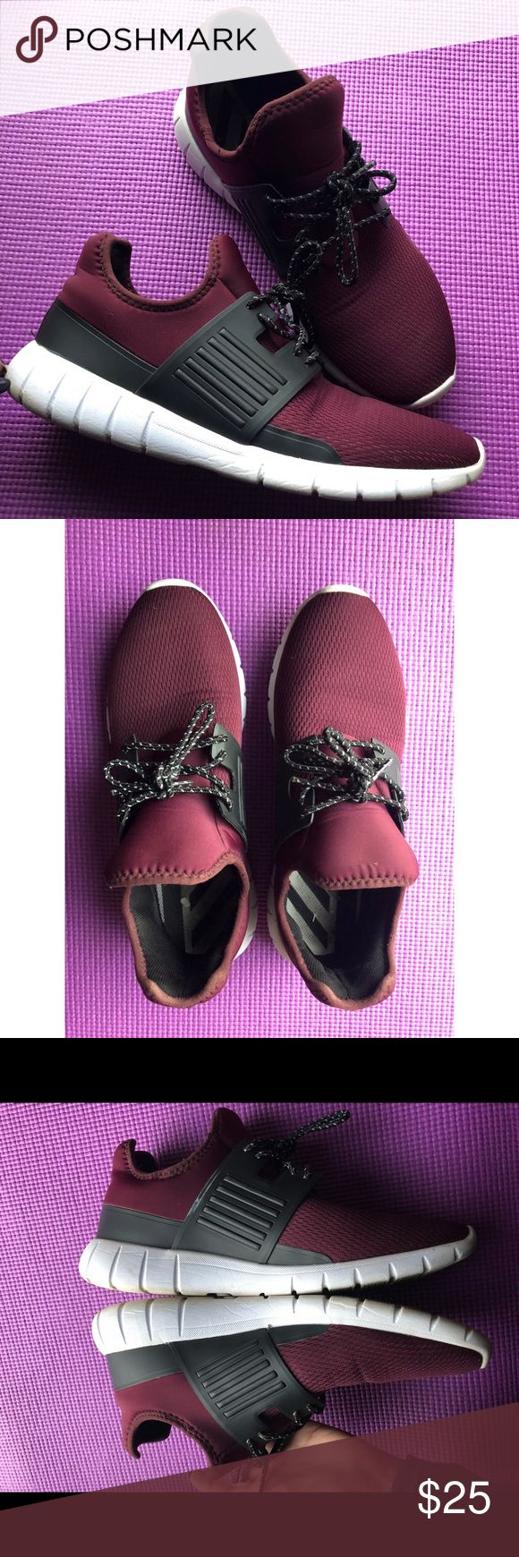 Burgundy Athletic shoes 👟 | Athletic shoes, H&m shoes, Shoes