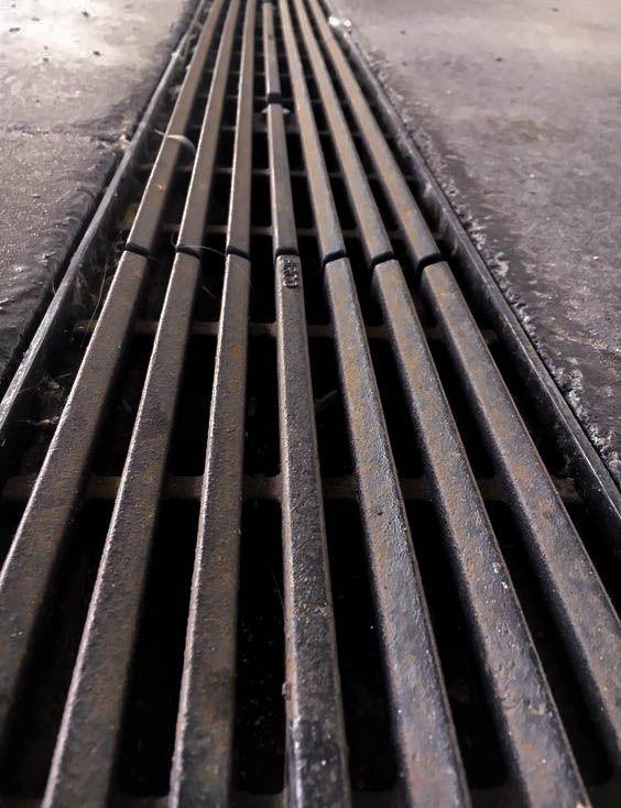 lijn_ het rooster vormt lijnen zowel rooster als de open ruimte tussen het rooster