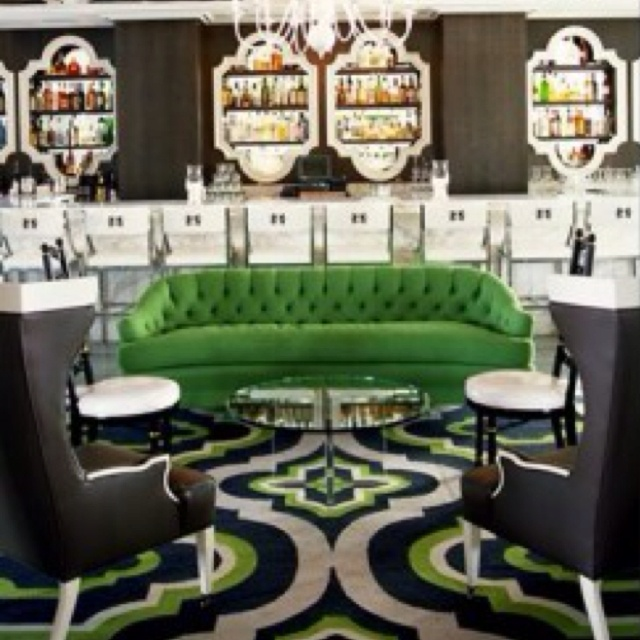 Green Envy Even Though This Is A Hotel BarI Love The Design Of Room By Kelly Wearstler