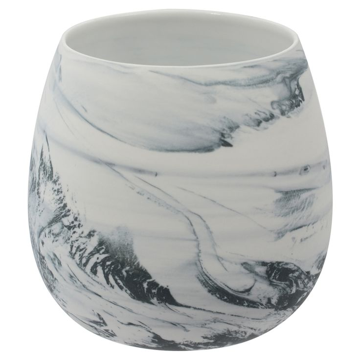 Marbled small candle/votive holder