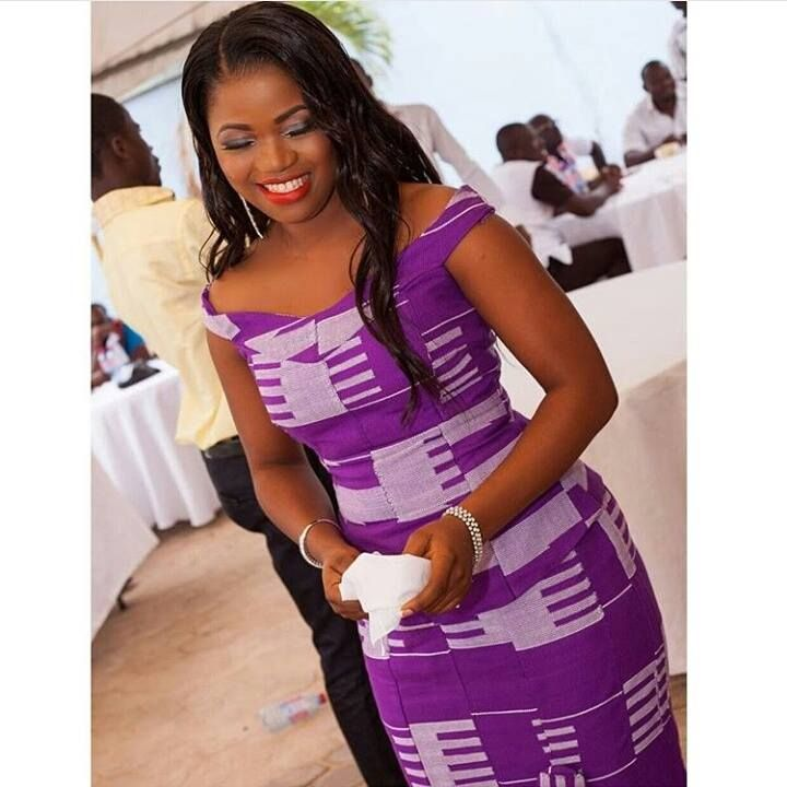 Purple Kente is everything! > Photo Source: I do Gh https://www.facebook.com/Idoweddingz?fref=ts