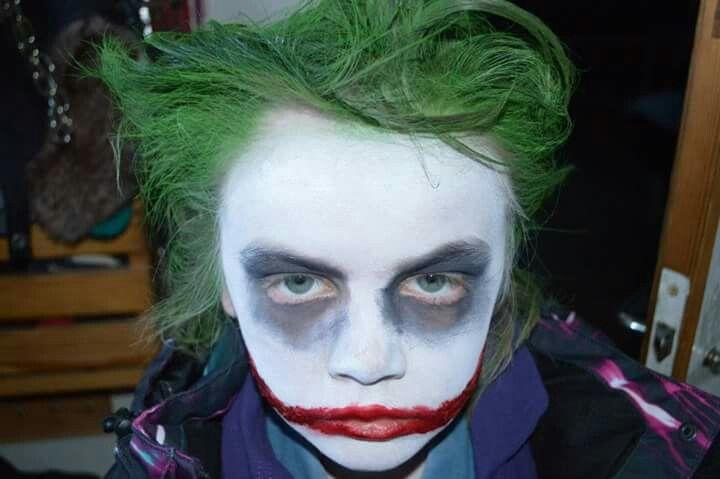 ⚪natta.lk @ instagram⚪ Maskerad Utklädnad Sår Blod Smink Jokern Batman Costume Makeup The Joker TheJoker Blood Wound Wounds Halloween
