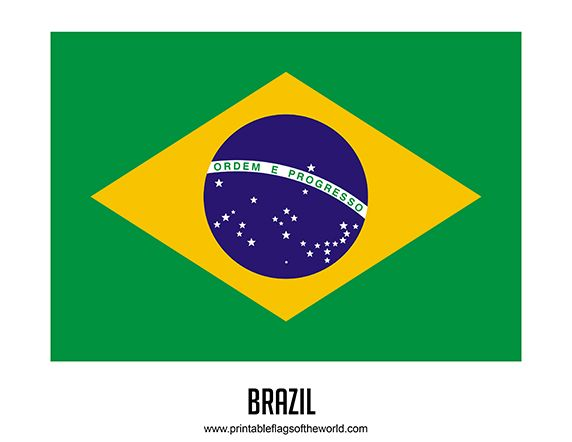 Free Printable Brazil Flag Download PDF | Printable Country Flags