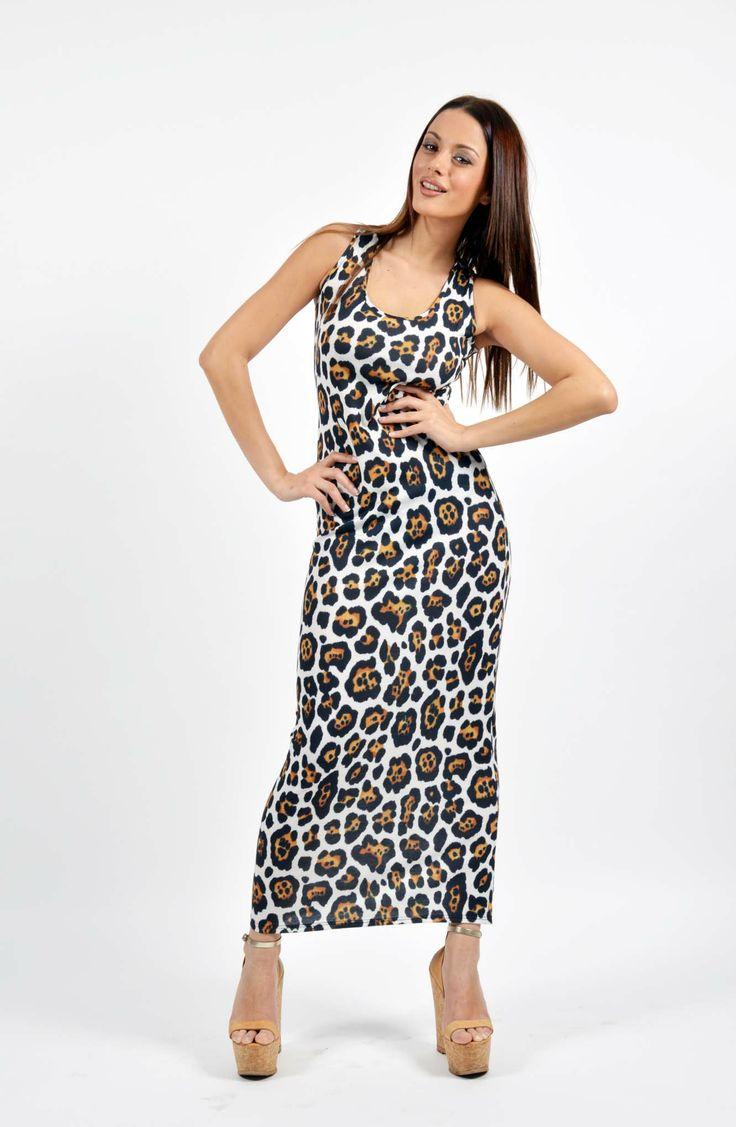 Leopard Jersey Print Φόρεμα