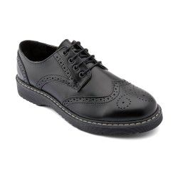 Mechanical, Black Leather Boys Lace-up School Shoes http://www.startriteshoes.com/school-shoes/
