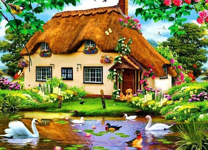 Casa de campo pinturas pinterest casa de campo de for Pinturas para casas de campo