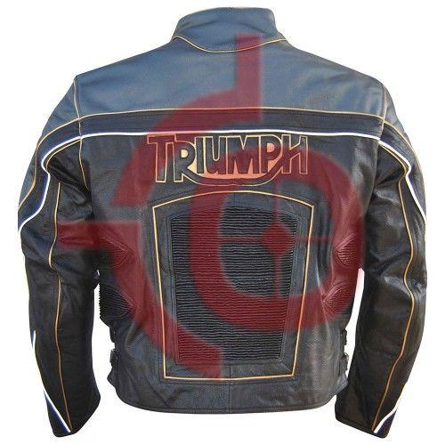 Men Genuine Triumph Biker Leather Jacket / Triumph Motorcycle Jacket