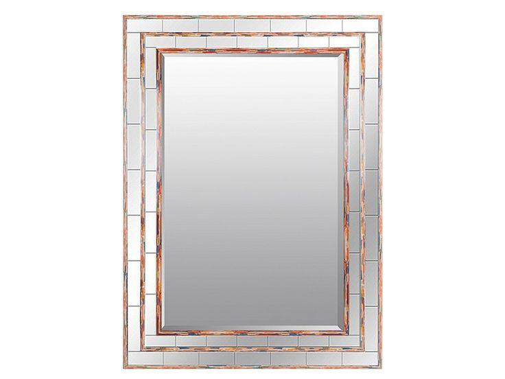 Espejo biselado con marco de colores