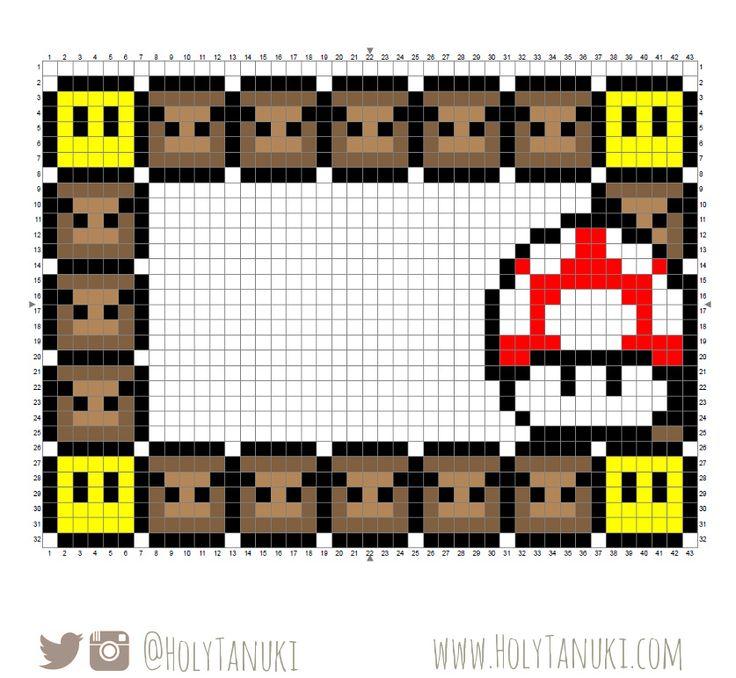 Super Mario Perler Bead Frame | HolyTanuki.