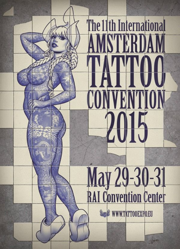 Amsterdam Tattoo Convention 29 - 30 May 2015 See more on: http://www.worldtattooevents.com/amsterdam-tattoo-convention/ — in Amsterdam, Netherlands.