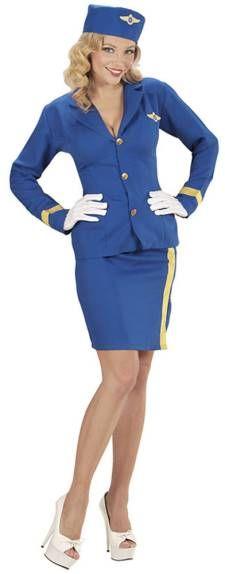 Disfraz de mujer azafata de vuelo
