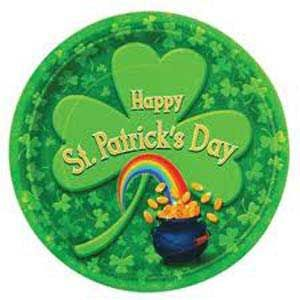 M25434 - Pot O Gold Plates. Plates Pot O Gold St Patrick's Day (18cm) Paper - Pack of 8. Please note: approx. 14 day delivery time.
