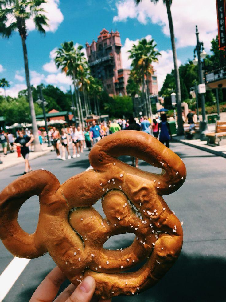 Mickey pretzel & tower of terror at Hollywood studios