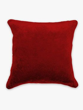 AURA Velvet Cushion in Flame, available at Forty Winks