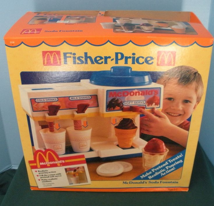 Vintage Fisher Price Fun with Food #2118 McDonald's Soda Fountain NEW in BOX!