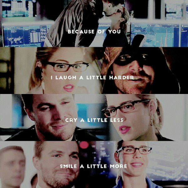 Just because of you #Olicity
