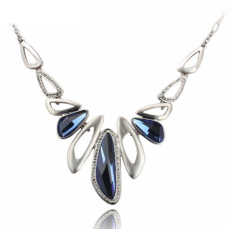Blue Crystal Pendant Necklace – Nonesuch Treasures