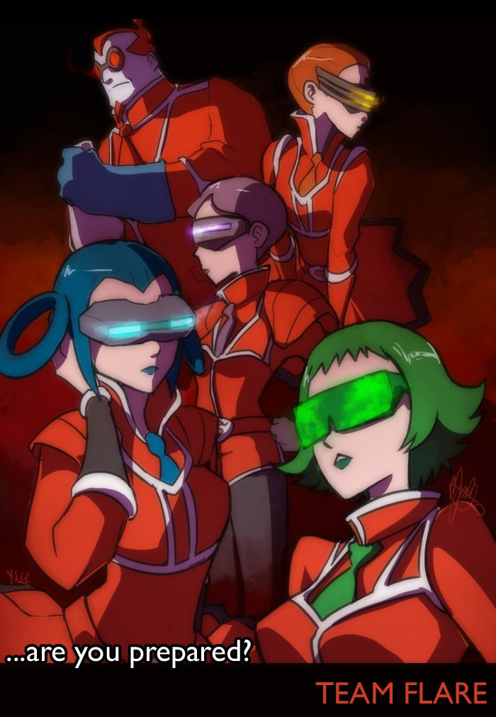 pokemon team flare scientists by kynim on deviantart