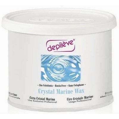 DEPILEVE Crystal Marine Wax by Depileve. $17.90. Use on your most demanding clients or those who are allergic to rosin.. Depileve Crystal Clear Marine Wax 14.1oz. The non-sticky formula makes this Depileve's most gentle hair remover.. This rosin-free waxing provides a smooth application with an excellent grip on fine and short hairs.. DEPILEVE Crystal Marine Wax is rosin-free and provides an excellent grip on fine short hairs. Excellent for legs due to the firming ...