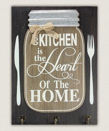 Another great find on #zulily! Wood Mason Jar 'Kitchen' Wall Sign #zulilyfinds