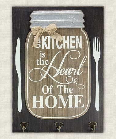 Wood Mason Jar Kitchen Wall Sign