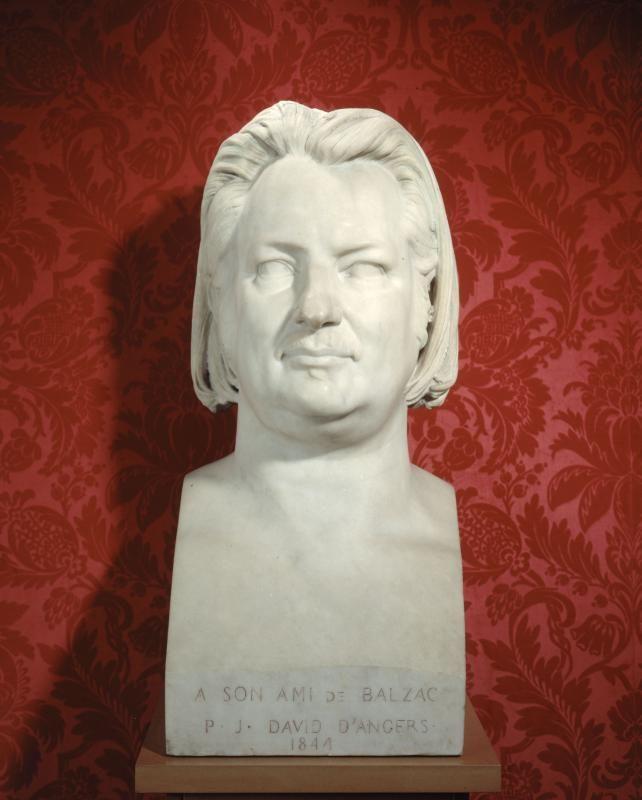 "Pierre-Jean David d'Angers (1788-1856). ""Honoré de Balzac"" Marbre de la Maison Balzac (1844)"