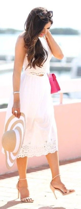#spring #fashion   All White in Bermuda   The Sweetest Thing