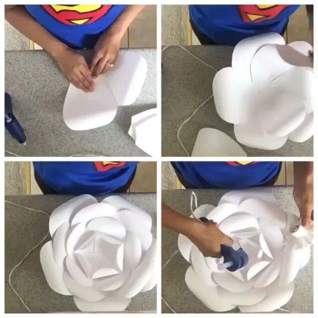 Quer aprender a fazer aquelas flores de papel gigantes que ficam ótimas na decoração. Aperte o play e mãos à obra!…