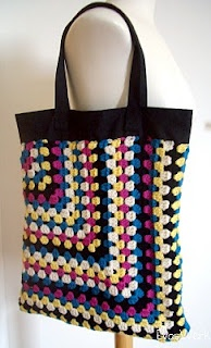 Half Granny Square Crochet Bag. Beautiful!