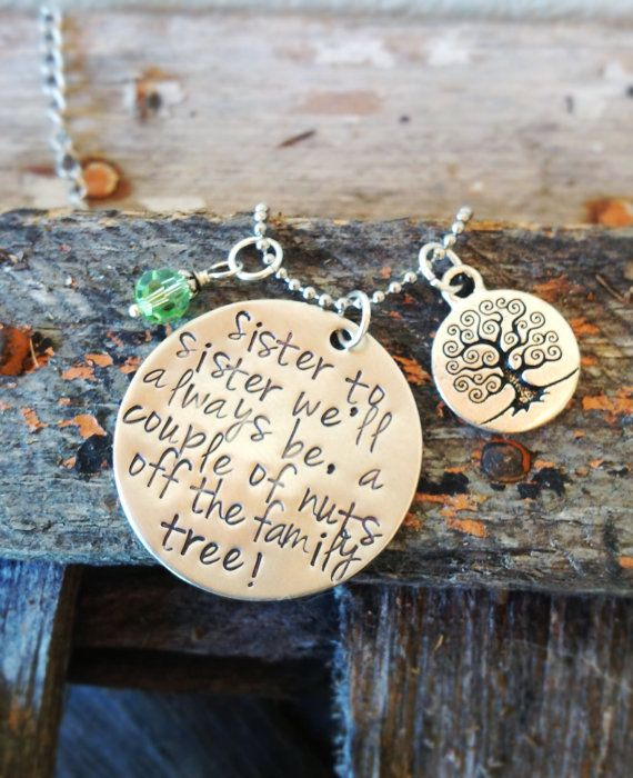 Hand stamped sister necklace - Birthday - Mother's Day - Christmas on Etsy, $33.95 AUD