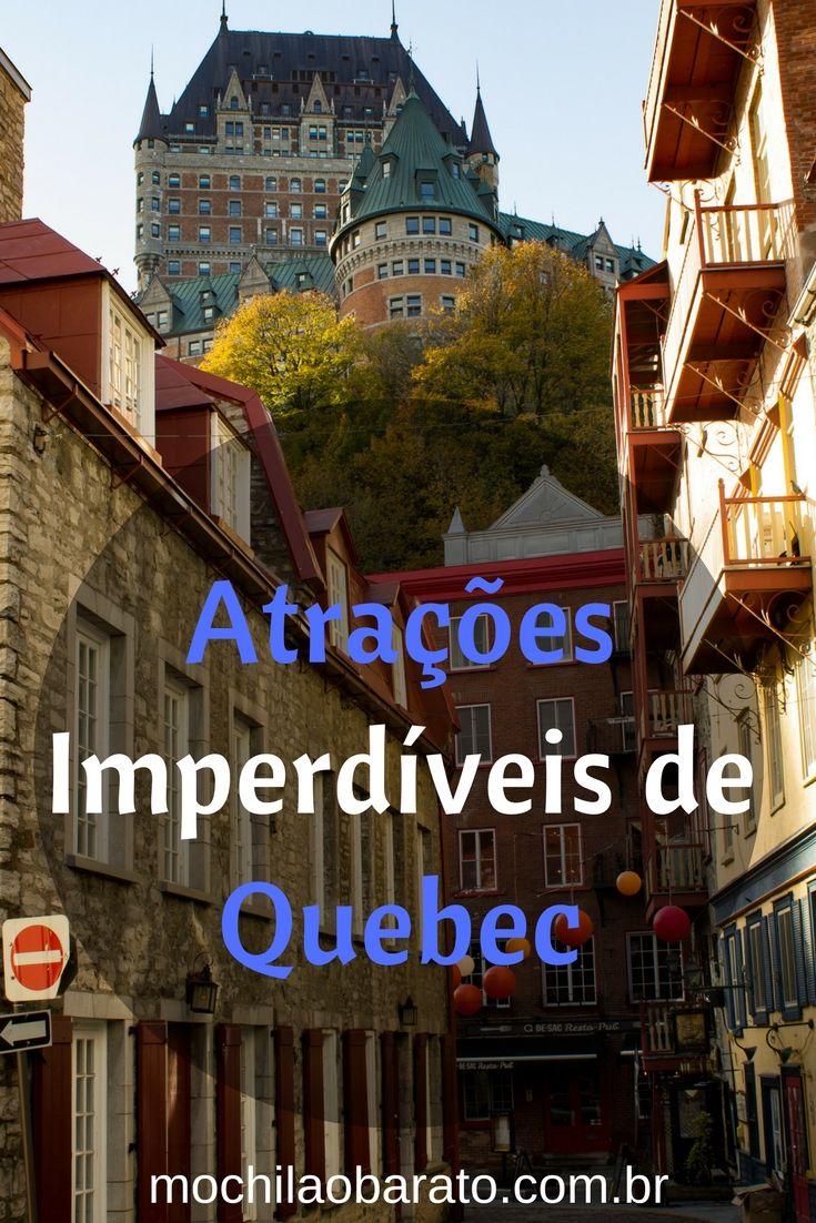 Saiba o que fazer em Quebec City, Canadá. Veja as atrações imperdíveis de Quebec.