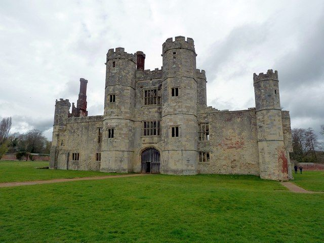 """Titchfield Abbey was  built in the C13th. At the Dissolution of the Monasteries in Henry VIII's reign it was closed in 1537 and granted to Sir Thomas Wriothesley (pronounced """"Risley""""), First Earl of Southampton, who transformed the buildings into a grand Tudor mansion and renamed it Place House. The mansion was abandoned in 1781 and was partially demolished. In the early C20th the ruins were purchased by the government and listed as a Scheduled Ancient Monument"""