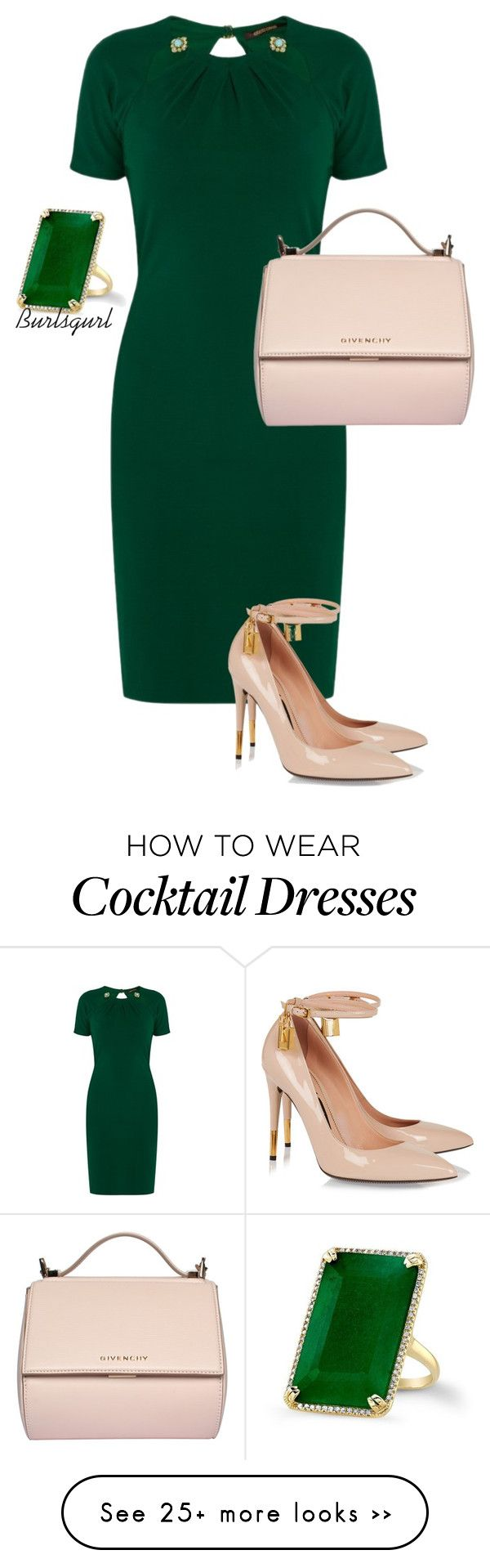 """Emerald"" by burlsgurl on Polyvore featuring Roberto Cavalli, Tom Ford and Givenchy"