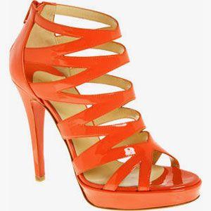 Туфли оранжевого цвета, туфли под оранжевое платье