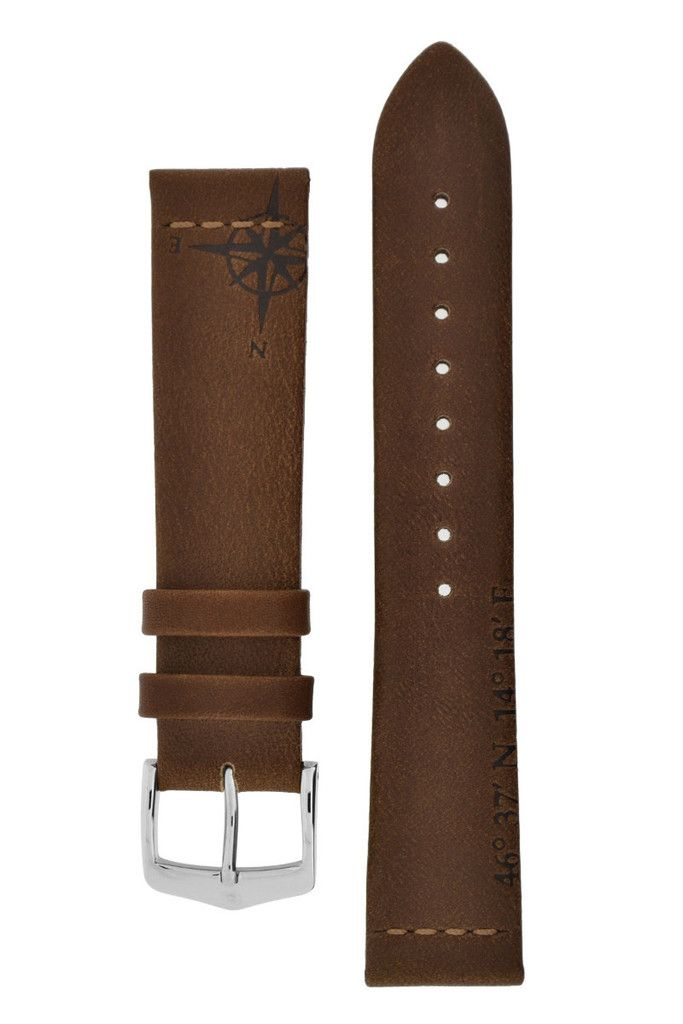 20, 22 & 24mm Hirsch Earth Leather Strap