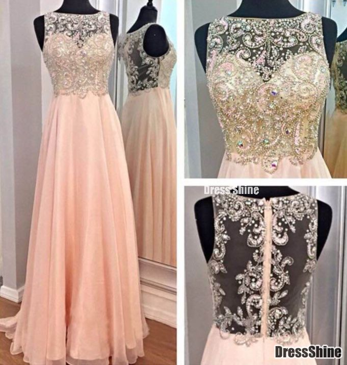 I like this - Elegant High Neck Tulle Gorgeous Beading details Long Pink Prom Dress. Do you think I should buy it?
