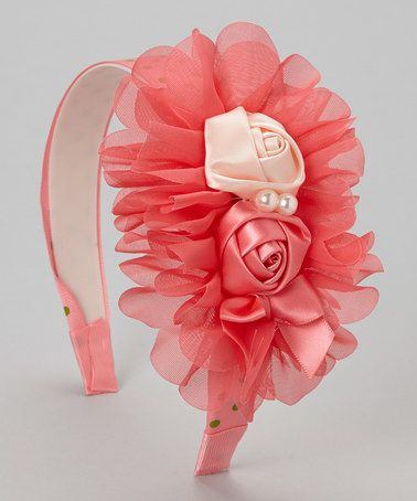 Take a look at this Raspberry Rosette Headband by Tutus by Tutu AND Lulu on #zulily today!