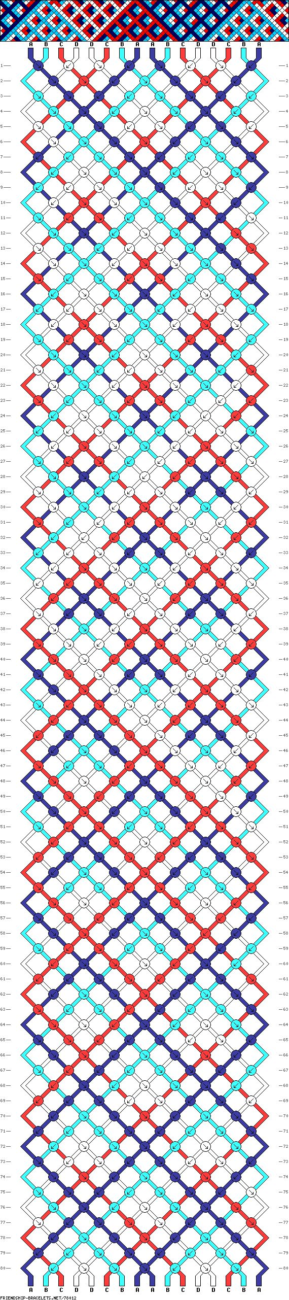 Crossover pattern - really nice looking when finished