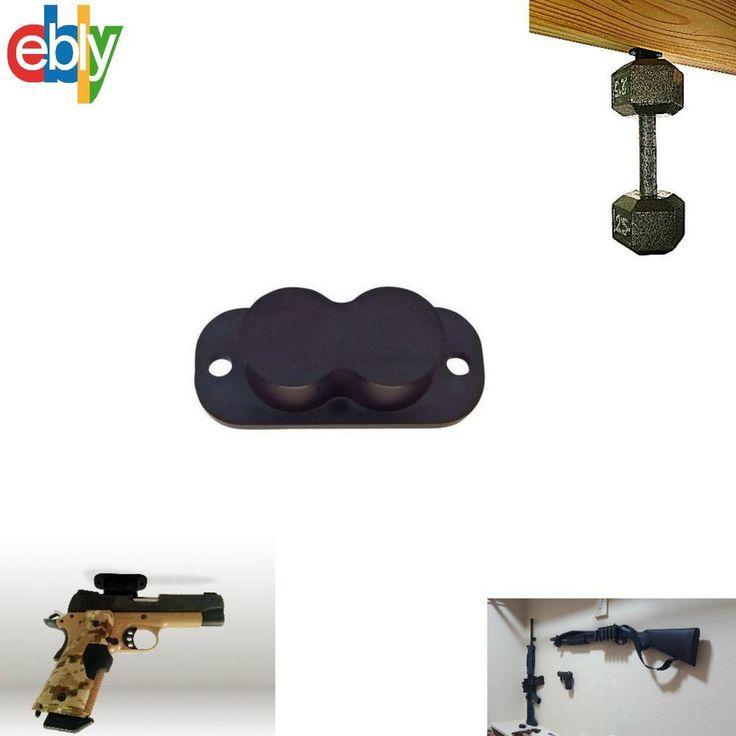 Concealed Gun Magnet Holster Mountable Hide Under Desk  Bed, Safe Weapon Storage…