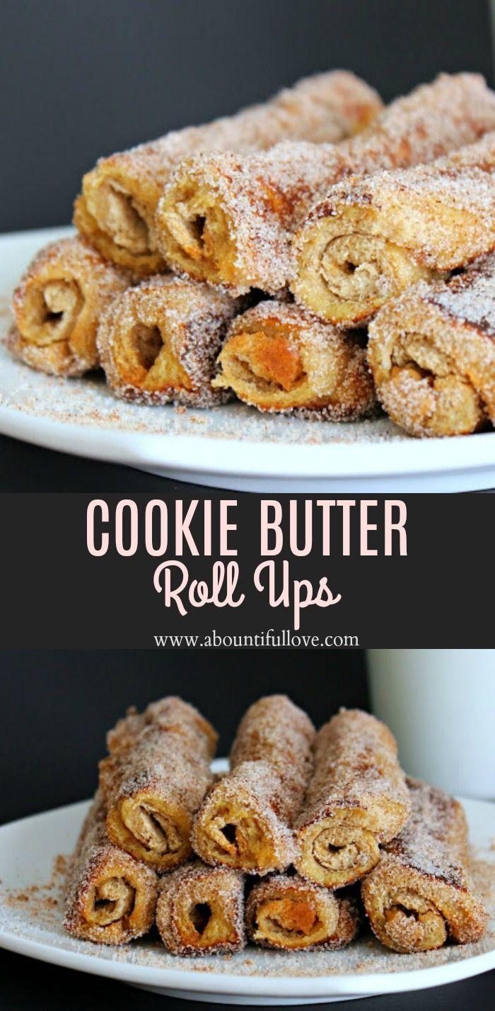 Cookie Butter Roll Ups