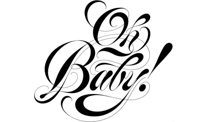 Tony dispigna oh baby fonts pinterest lettering