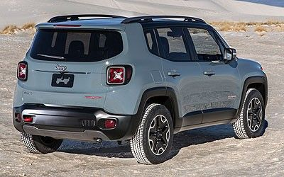 2015 Jeep Renegade rear exterior carTypes suvs
