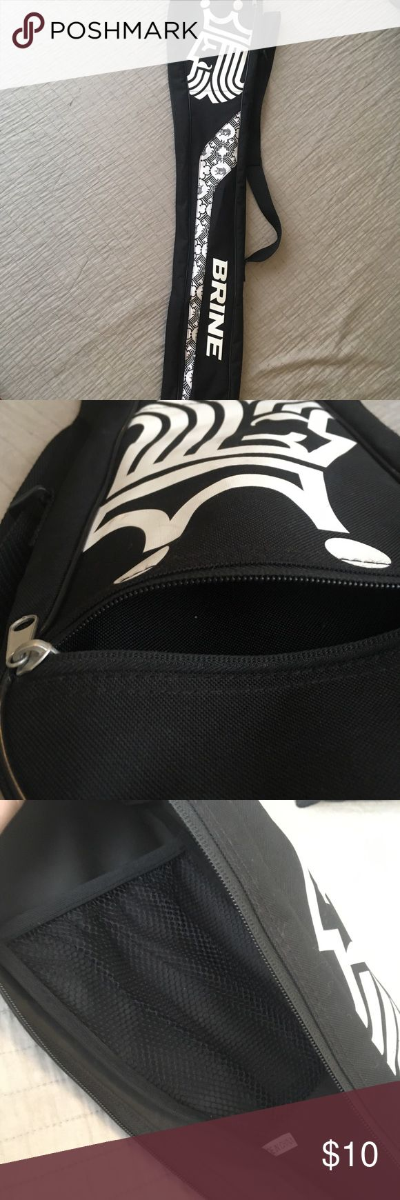 Brine lacrosse bag Only used this for one season. Full zipper allows for easy access to your stick, inside and outside pockets are perfect for storing goggles and mouthguard. brine Bags