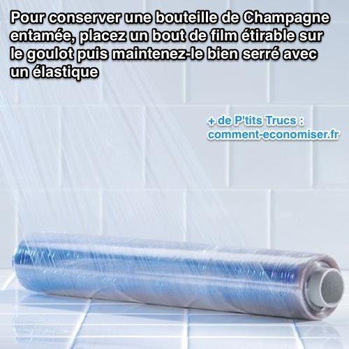 Avec cette astuce vous allez pouvoir conserver les bulles de votre Champagne. Découvrez l'astuce ici : http://www.comment-economiser.fr/reboucher-bouteille-champagne-entamee.html?utm_content=buffer9724f&utm_medium=social&utm_source=pinterest.com&utm_campaign=buffer