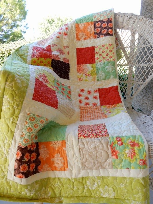Simple and beautiful quilt made from a jolly bar of Fig Tree Fabrics - A Quilting Life - a quilt blog: Jolly Bar Blog Tour